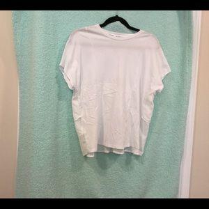 BCBG generation ruffled back T-shirt, size S, NWT